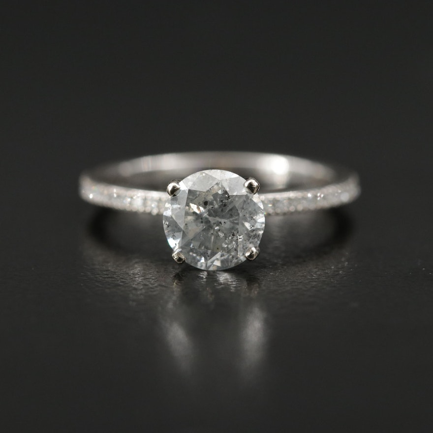 Simon G 18K 1.17 CTW Diamond Ring