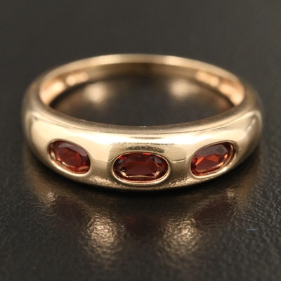 14K Garnet Invisibly Set Ring