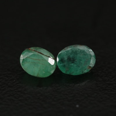 Loose 0.80 CTW Oval Faceted Emeralds