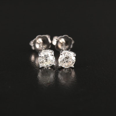 14K Gold 0.59 CTW Diamond Stud Earrings