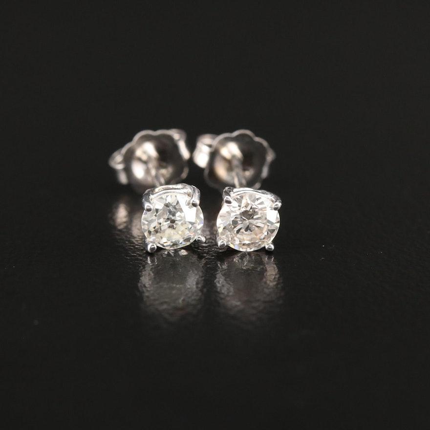 14K Gold 0.59 CTW Diamond Stud Earrings