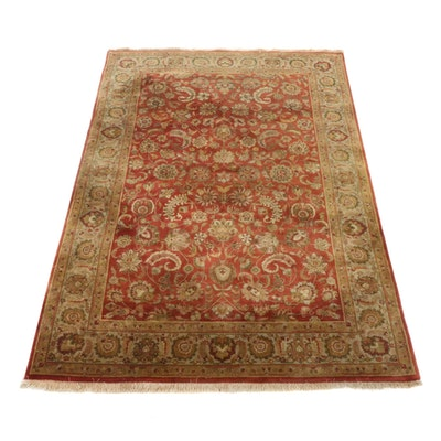 6'1 x 9'4 Hand-Knotted Indo-Persian Tabriz Rug, 2000s