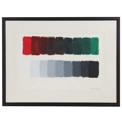 Minimalistic Abstract Color Block Acrylic Painting