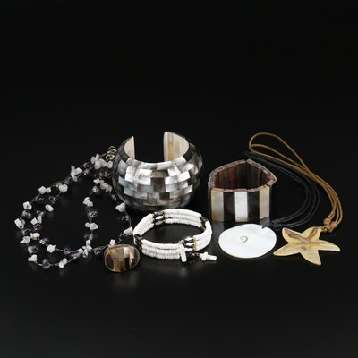 Jewelry Selection Featuring Mother of Pearl, Moonstone and More
