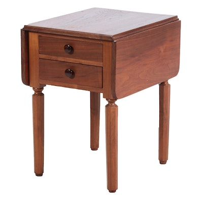 Federal Style Walnut Drop Leaf End Table