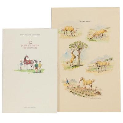 "Yvan Benoist-Gironière ""12 Petites Histoires de Chevaux,"" with Watercolor"