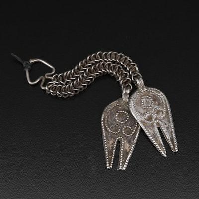 Omani Sterling Silver Hands of Fatima Forehead Ornament
