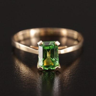 14K Cubic Zirconia Solitaire Ring