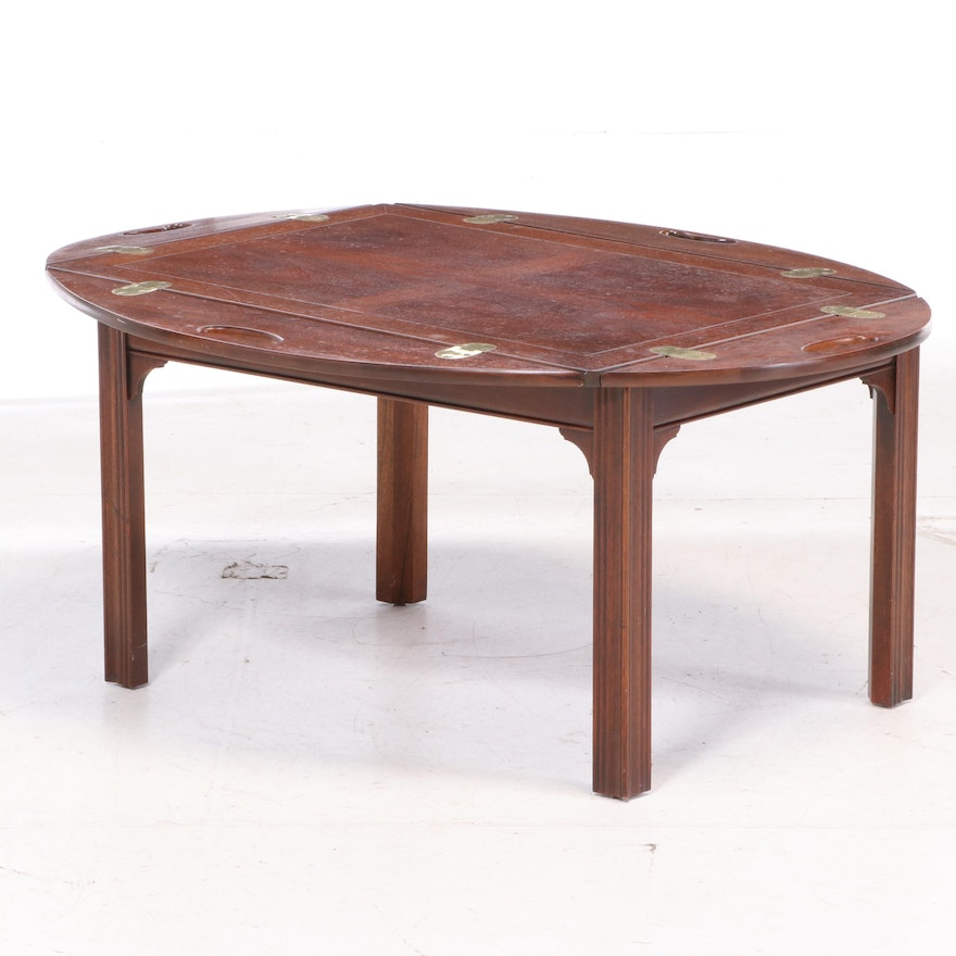 """Baker Furniture Mahogany """"Butler's Tray"""" Coffee Table"""