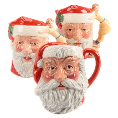 "Royal Doulton ""Santa Claus"" Character Jugs, Late 20th Century"