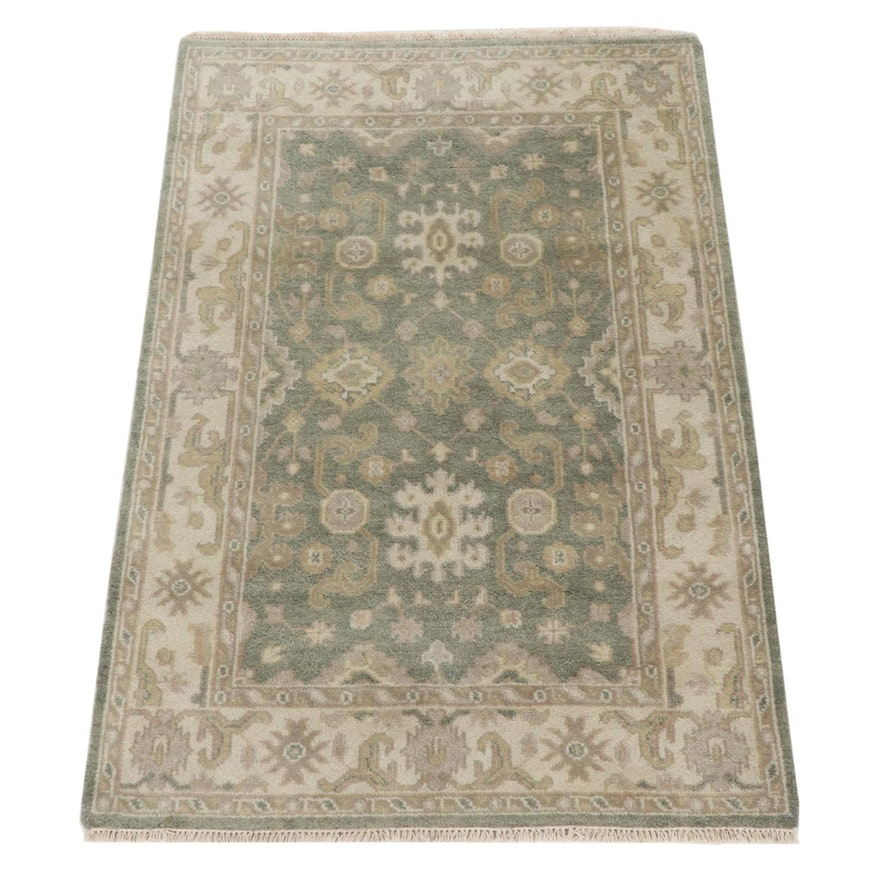 4'1 x 6'2 Hand-Knotted Indo-Turkish Oushak Rug, 2010s