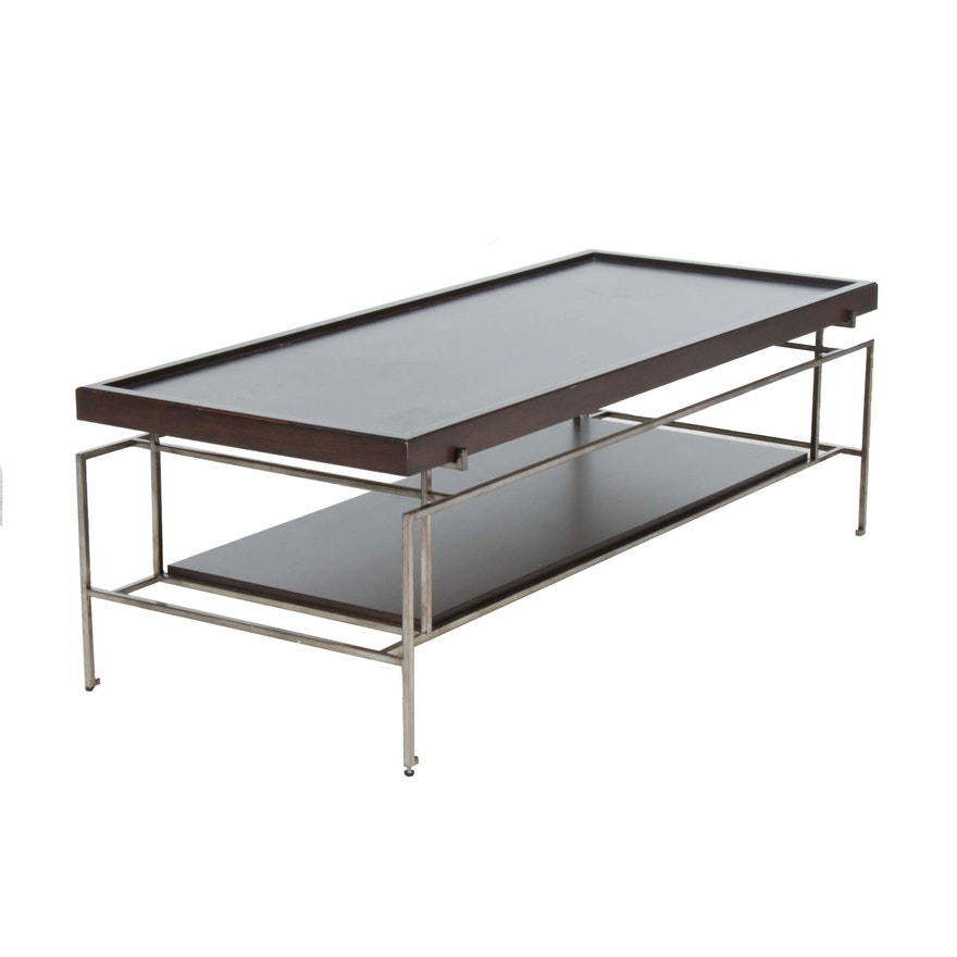 Vanguard Furniture Contemporary Metal Frame Coffee Table