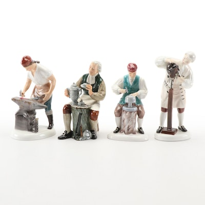 "Royal Doulton Ceramic Figurines Including ""The Blacksmith of Williamsburg"""