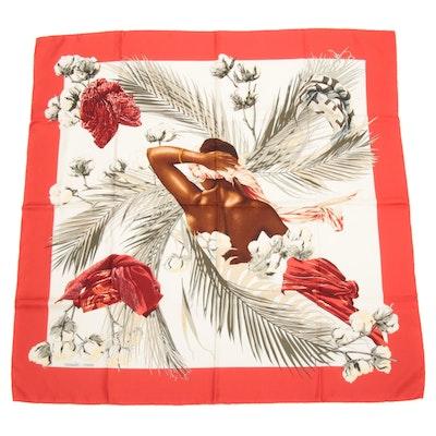 """Hermès """"Turbans des Reines"""" Silk Scarf"""
