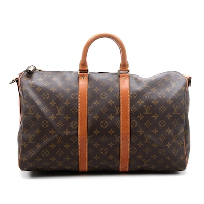 Louis Vuitton Bandoulière Keepall 45 in Monogram Canvas and Leather