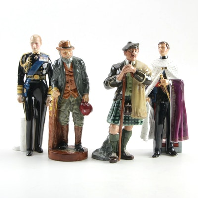 "Royal Doulton ""The Gaffer"", ""The Laird"" and Other Porcelain Figurines"