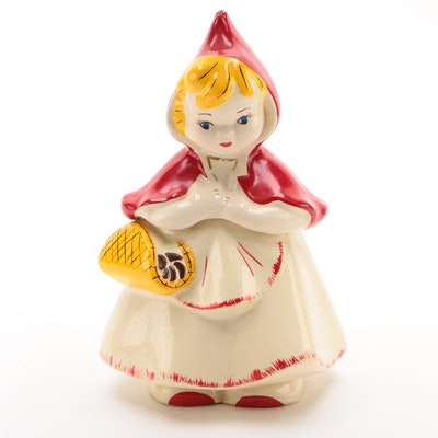 McCoy Pottery Little Red Riding Hood Earthenware Cookie Jar, Mid-20th Century