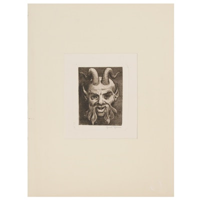 Etching of a Satyr, 20th Century