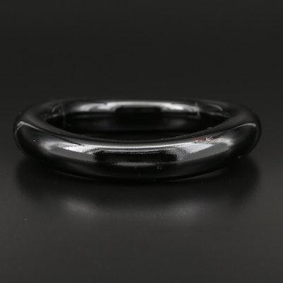 Black Coral Bangle Bracelet