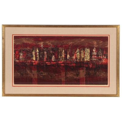 "Dorothy Bowman Serigraph ""Venetian Mood,"" 20th Century"