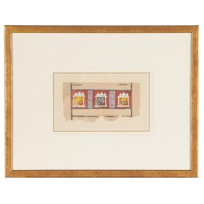 Indian Miniature Painting Scene from the Mahabharata, Mid-19th Century