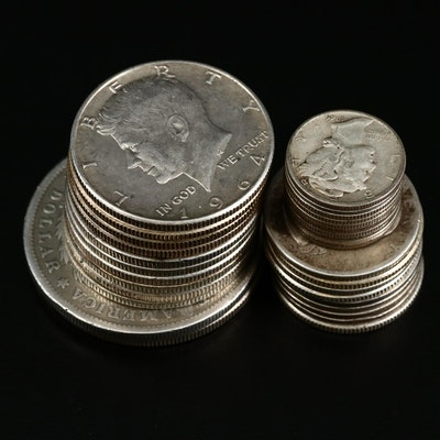 Ten Dollar Face Value Grouping of Antique to Vintage U.S. Silver Coins