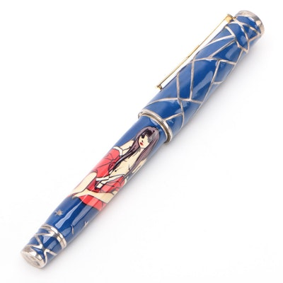 """Omas Limited Edition """"Miku"""" Enameled Sterling Silver Fountain Pen with 18K Nib"""