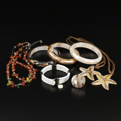 Jewelery Selection Featuring Mother of Pearl and Agate