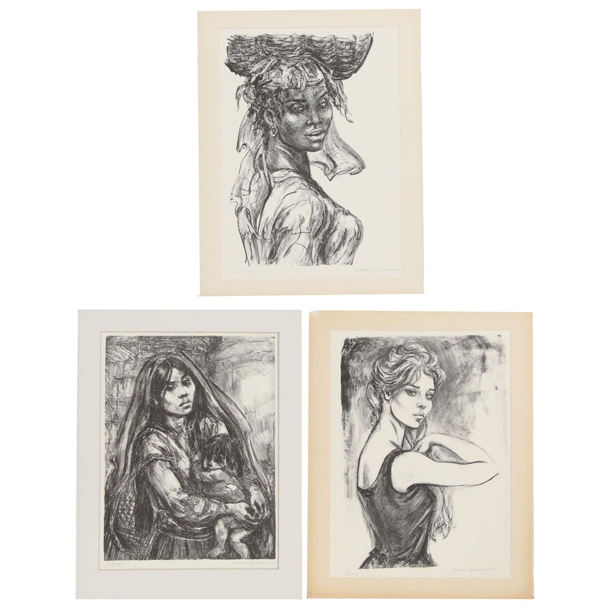 Marion Greenwood Lithographic Prints, 20th Century