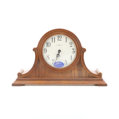 Howard Miller Hillsborough Art Deco Style Oak Mantel Clock with Ave Maria Chime