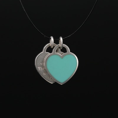 Tiffany & Co. Sterling Silver Heart Tag Charms