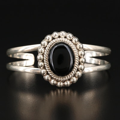 Sterling Black Onyx Cuff Bracelet