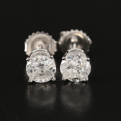 14K Gold 2.05 CTW Diamond Stud Earrings