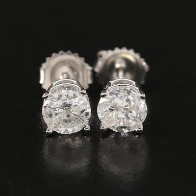 14K Gold 2.05 CTW Diamond Stud Earrings