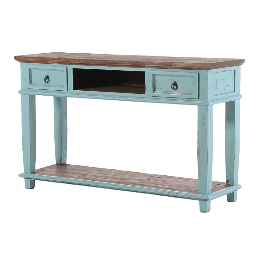 Farmhouse Style Painted Console Table