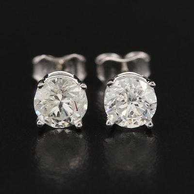 14K Gold 1.92 CTW Diamond Stud Earrings