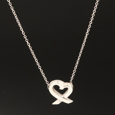 "Paloma Picasso for Tiffany & Co. ""Loving Heart""  Sterling Necklace"