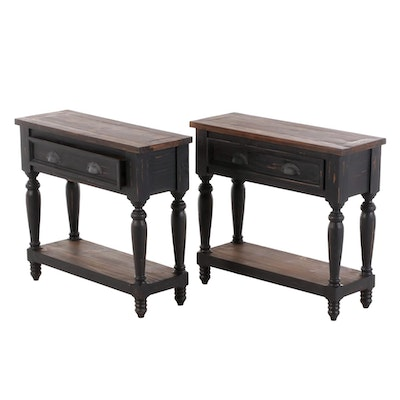 Farmhouse Style Painted Wood Console Tables