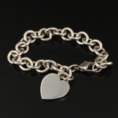 Tiffany & Co Sterling Heart Tag Bracelet