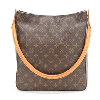 Louis Vuitton Looping GM Shoulder Bag in Monogram Canvas and Vachetta Leather