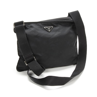 Prada Crossbody Bag in Black Tessuto Nylon