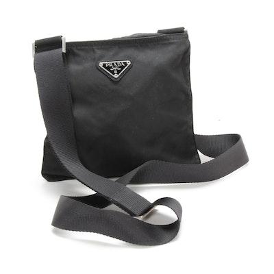 Prada Crossbody Bag in Black Tessuto Nylon