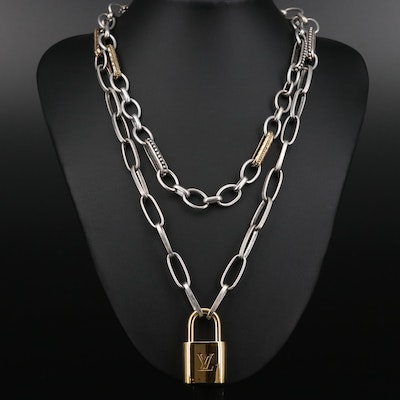 Louis Vuitton Lock on Chain Necklace