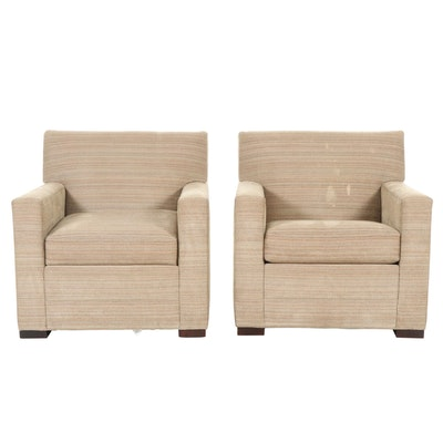 Pair of Nichols & Stone Upholstered Armchairs