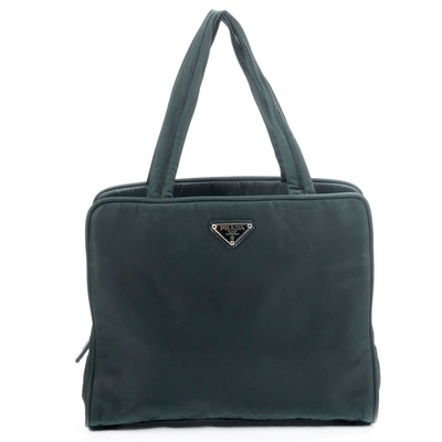 Prada Shoulder Bag in Green Tessuto Nylon