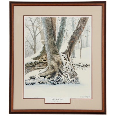 "Dale Benedict Offset Lithograph ""Tree Gnome"""