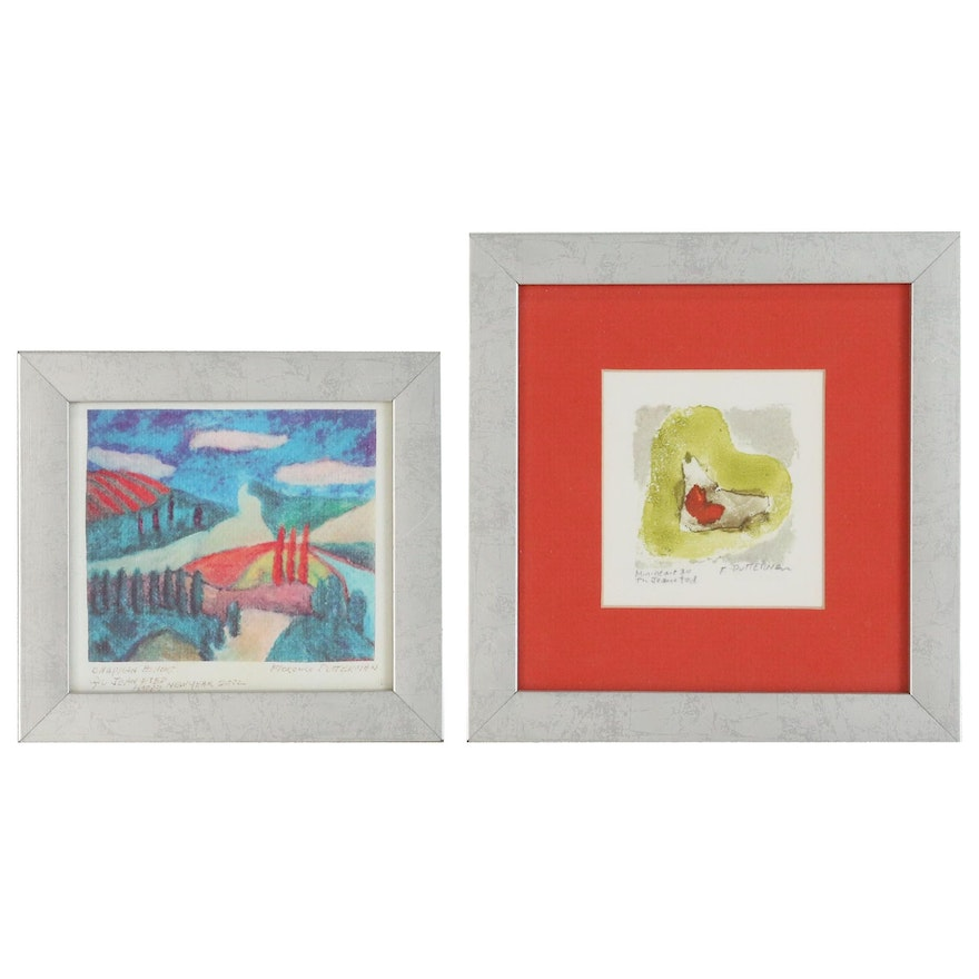 Florence Putterman Watercolor Painting and Giclée