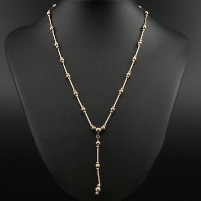 14K Gold Drop Necklace
