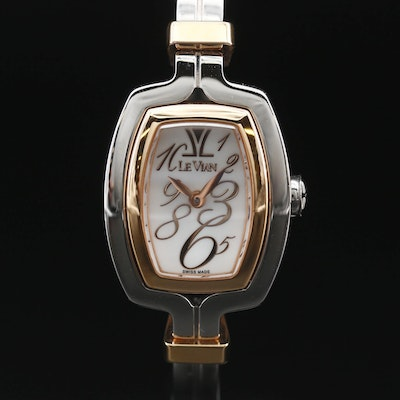Le Vian Two Tone Stainless Steel Quartz Wristwatch