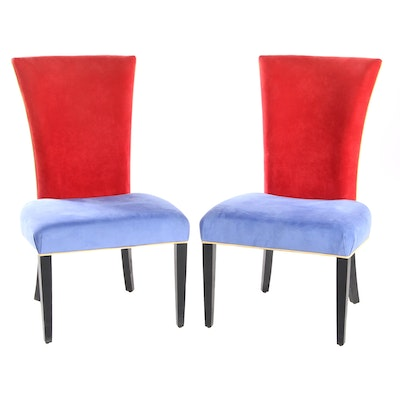 Memphis Style Upholstered Side Chairs